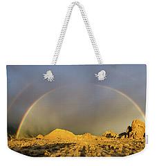 Double Rainbow Gold Weekender Tote Bag