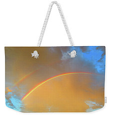 Double Rainbows In The Desert Weekender Tote Bag