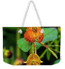 Weekender Tote Bag featuring the photograph Double Shot Of Jewelweed by Barbara Bowen