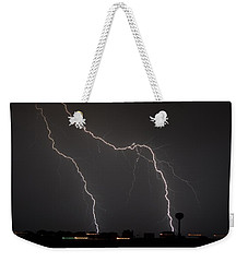 Double Strike On The Sound Weekender Tote Bag by Jeff at JSJ Photography
