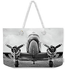 Weekender Tote Bag featuring the photograph Douglass C-47 Skytrain - Gooney Bird by Gary Heller