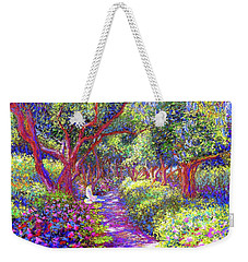 Dove And Healing Garden Weekender Tote Bag by Jane Small