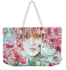 Dove Weekender Tote Bag by Jasna Dragun