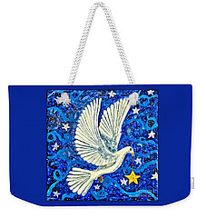 Weekender Tote Bag featuring the painting Dove With Star by Lise Winne
