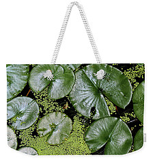 Dow Gardens Lily Pads 4 Weekender Tote Bag by Mary Bedy