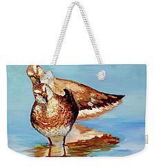 Dowitcher Birds Weekender Tote Bag by Janet Garcia
