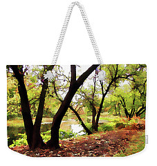 Weekender Tote Bag featuring the photograph Down By --- by Betsy Zimmerli