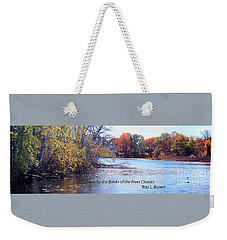 Weekender Tote Bag featuring the photograph Down By The Banks Of The River Charles by Rita Brown