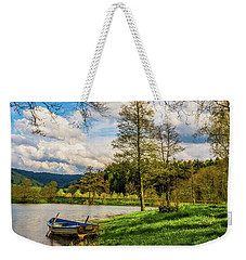 Weekender Tote Bag featuring the photograph Down By The Lake  by David Dehner
