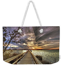Weekender Tote Bag featuring the photograph Down By The River by Phil Mancuso