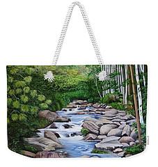 Down Stream  Weekender Tote Bag by Marilyn McNish