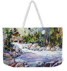 Down Stream On Hoppers Creek Weekender Tote Bag by P Anthony Visco