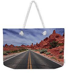 Down The Open Road Weekender Tote Bag