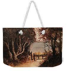 Down The Path Weekender Tote Bag by Sharon Schultz