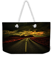Weekender Tote Bag featuring the photograph Down The Road by Scott Mahon
