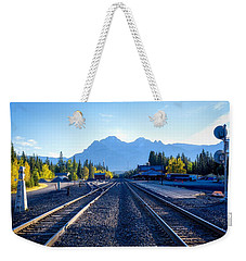 Down The Tracks Weekender Tote Bag by Keith Boone