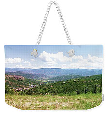 Down The Valley At Snowmass #2 Weekender Tote Bag