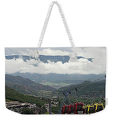 Weekender Tote Bag featuring the photograph Down The Valley At Snowmass by Jerry Battle