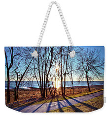 Weekender Tote Bag featuring the photograph Down This Way We Meander by Phil Koch