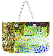 Weekender Tote Bag featuring the mixed media Down by Tony Rubino