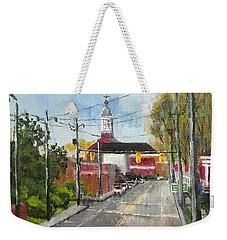 Down Town Jacksonville Nc Weekender Tote Bag by Jim Phillips