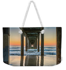 Down Under Scripp's Pier  Weekender Tote Bag