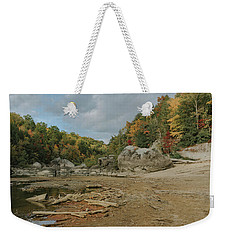 Downstream From Cumberland Falls Weekender Tote Bag