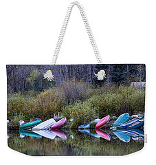 Downtime At Beaver Lake Weekender Tote Bag by Alana Thrower