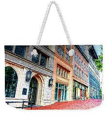 Downtown Asheville City Street Scene II Painted Weekender Tote Bag