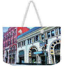Downtown Asheville City Street Scene Painted  Weekender Tote Bag