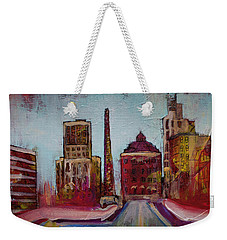 Downtown Asheville Painting Pack Square North Carolina City  Weekender Tote Bag