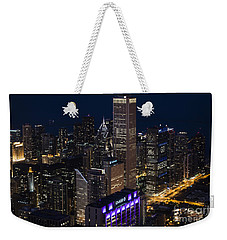 Downtown Chicago Weekender Tote Bag by Andrea Silies