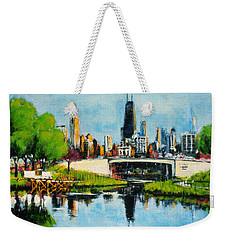 Downtown Chicago From Lincoln Park Weekender Tote Bag