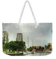 downtown Ft Lauderdale waterfront Weekender Tote Bag