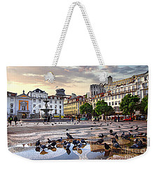 Downtown Lisbon Weekender Tote Bag by Carlos Caetano
