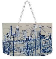 Downtown Louisville Weekender Tote Bag by Stacy C Bottoms