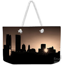 Weekender Tote Bag featuring the photograph Downtown Oklahoma City by Betty LaRue