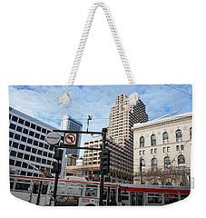 Downtown San Francisco - Market Street Buses Weekender Tote Bag by Matt Harang
