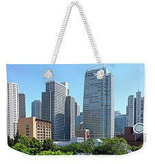 Weekender Tote Bag featuring the photograph Downtown San Fransisco by Mike McGlothlen