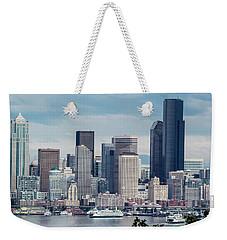 Downtown Seattle And Ferries Weekender Tote Bag