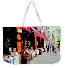 Downtown Sidewalk Weekender Tote Bag