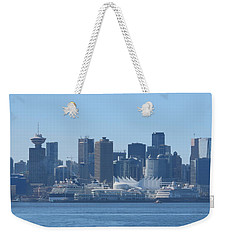 Downtown View From North Vancouver Weekender Tote Bag