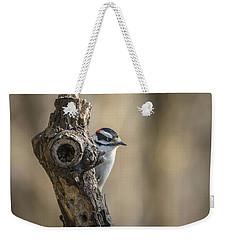 Downy Woodpecker Img 1 Weekender Tote Bag
