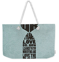 Weekender Tote Bag featuring the digital art Dr. Strangelove Or How I Learned To Stop Worrying And Love The Bomb by Ayse Deniz