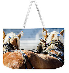 Draft Horses Ready Weekender Tote Bag by Dawn Romine