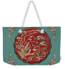 Dragon And Phoenix Weekender Tote Bag by Kristin Elmquist