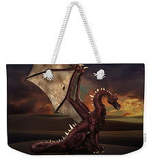 Dragon At Sunset Weekender Tote Bag