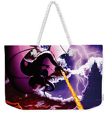 Dragon Attack Weekender Tote Bag by The Dragon Chronicles - Steve Re