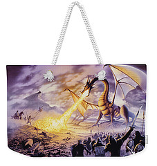 Dragon Battle Weekender Tote Bag by The Dragon Chronicles - Steve Re