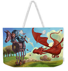 Dragon Chase Weekender Tote Bag